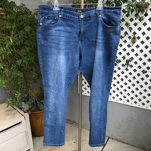 DKIN Stretch Skinny Blue Jeans Plus Sz 24W